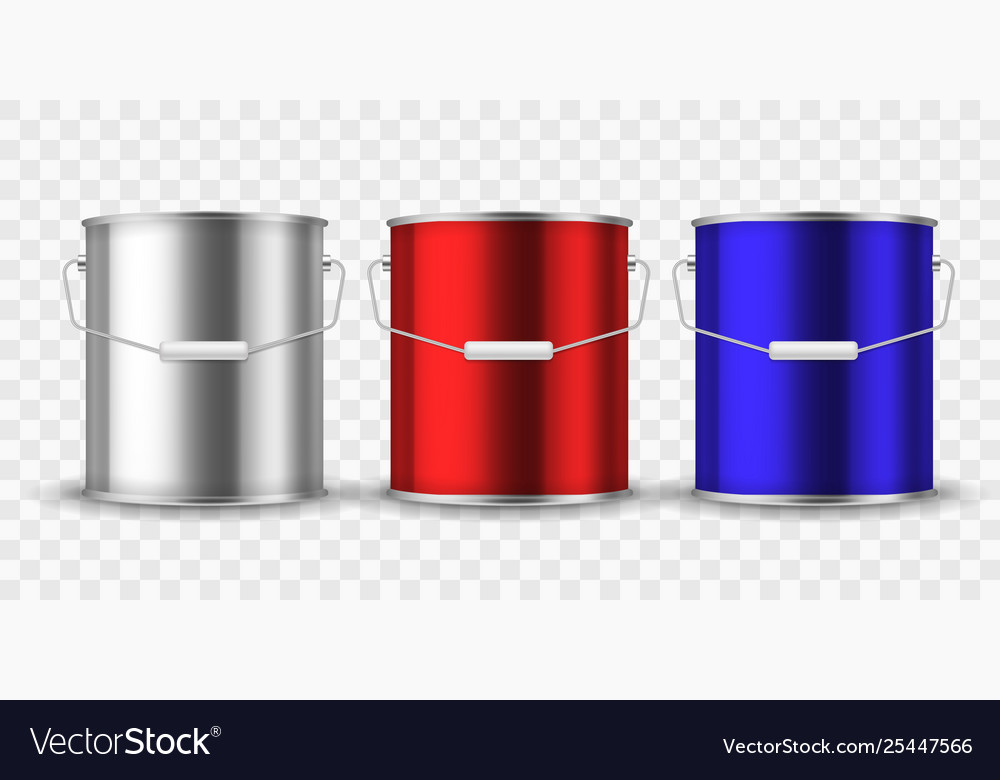 Paint steel can silver bucket metal cans package