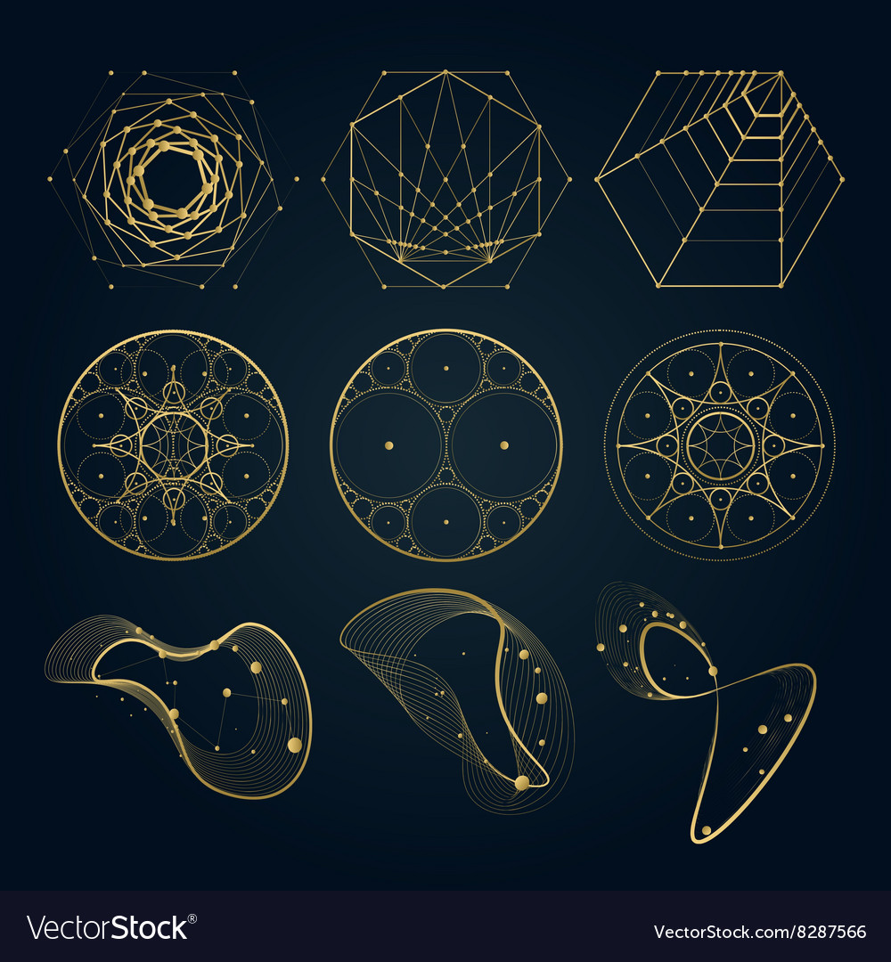 sacred geometry forms royalty free vector image