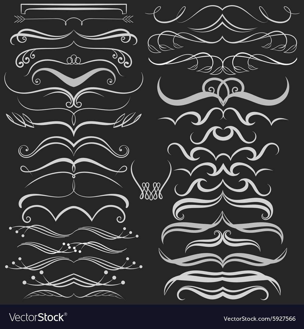 Set of hand drawn doodle design elements on