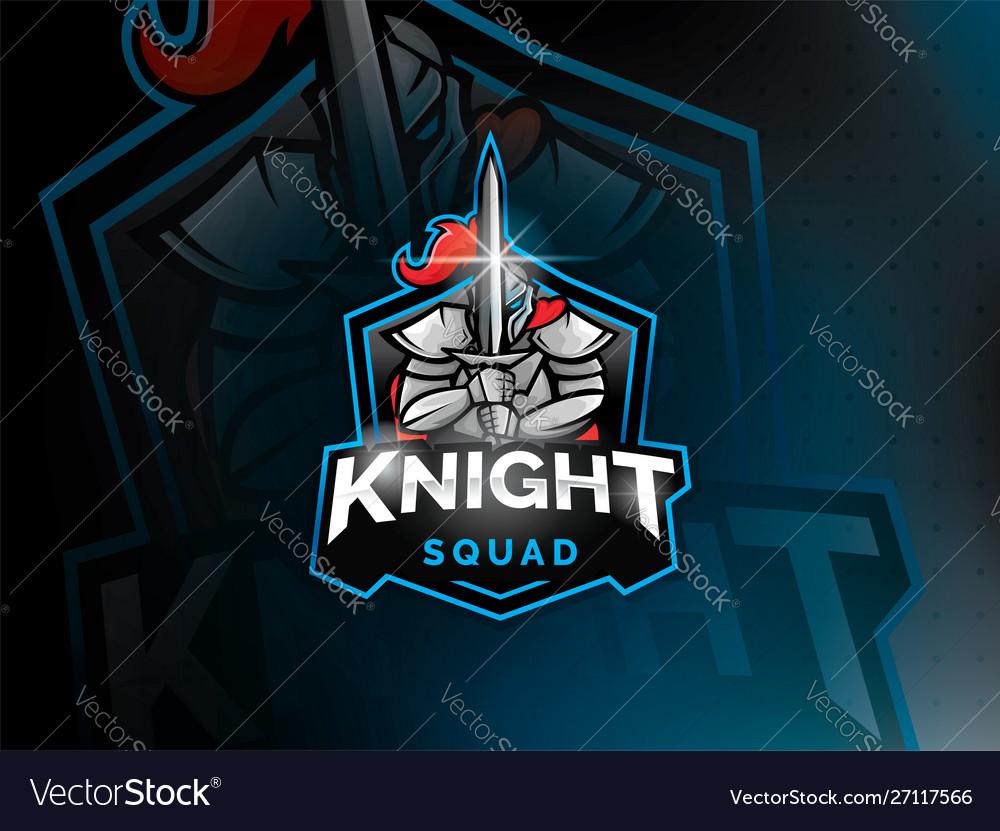 Warrior knight mascot logo design