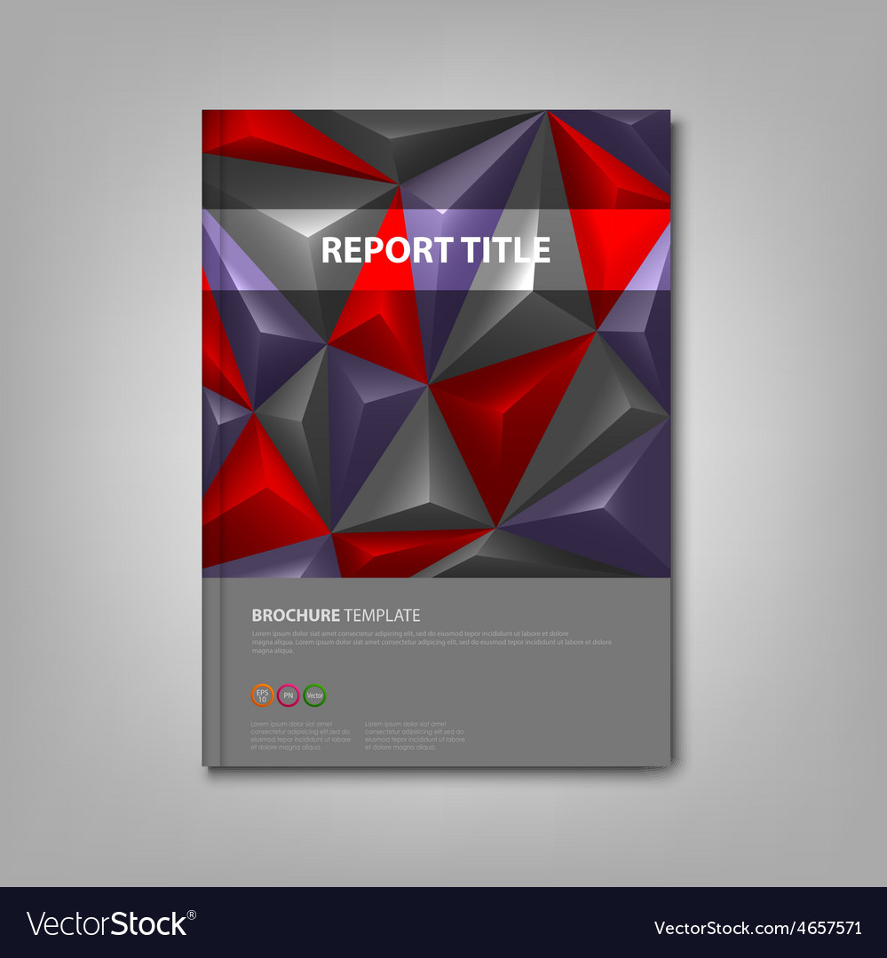Brochures book with pyramid background template Vector Image