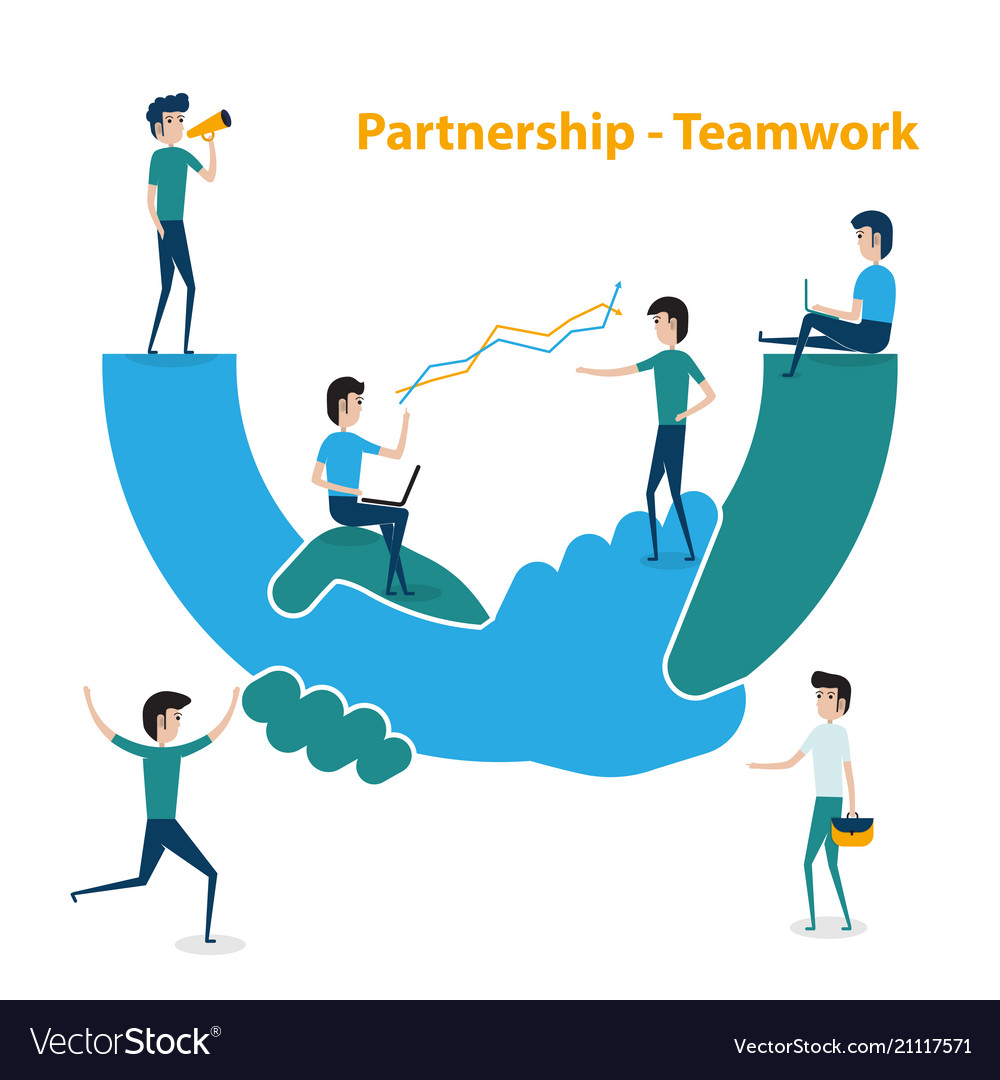 Business people teamwork cooperation