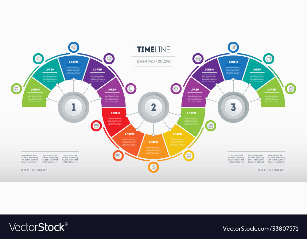 Business presentation concept with fifteen steps