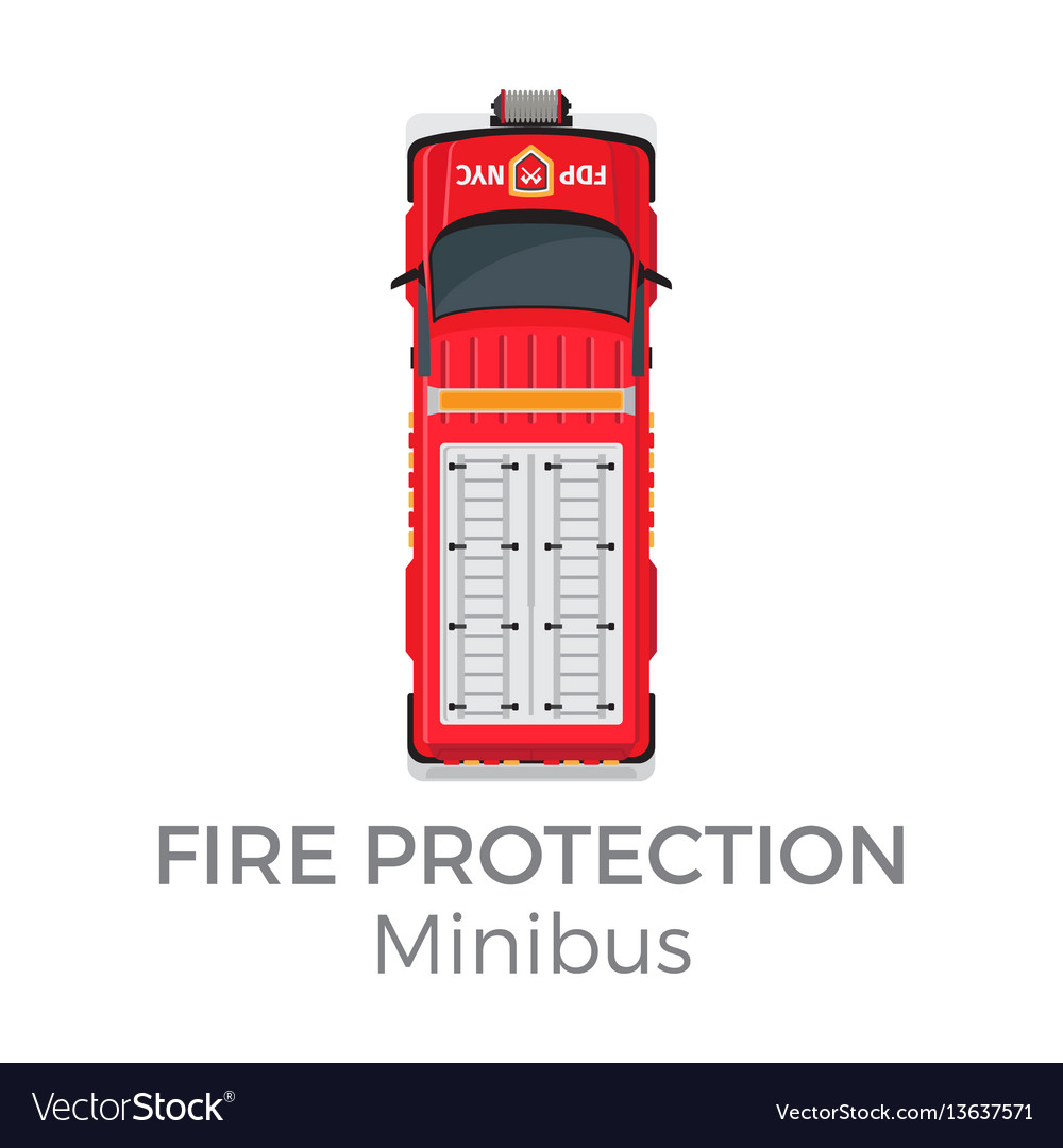 Fire protection minibus means of transportation