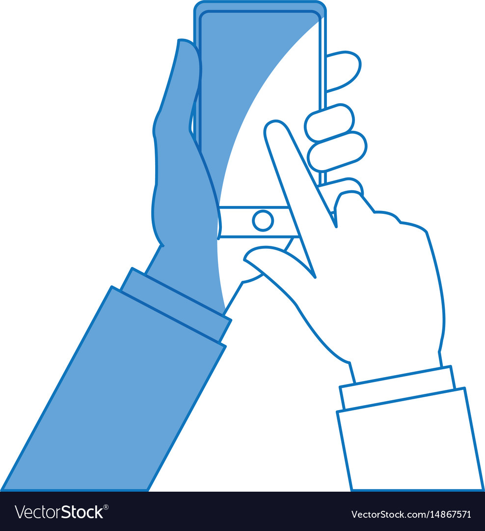 Hand businessman touch screen smartphone shopping
