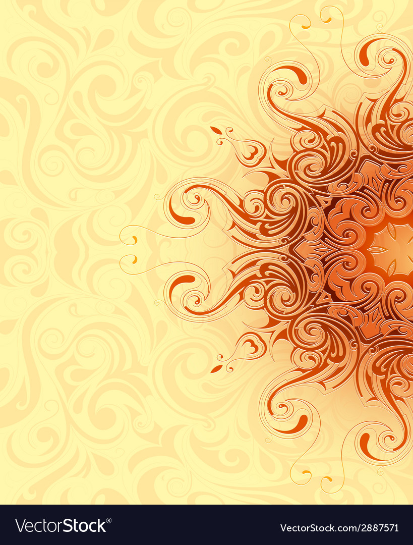 Henna background theme vector image