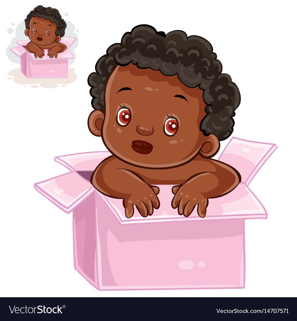 Little baby with black skin