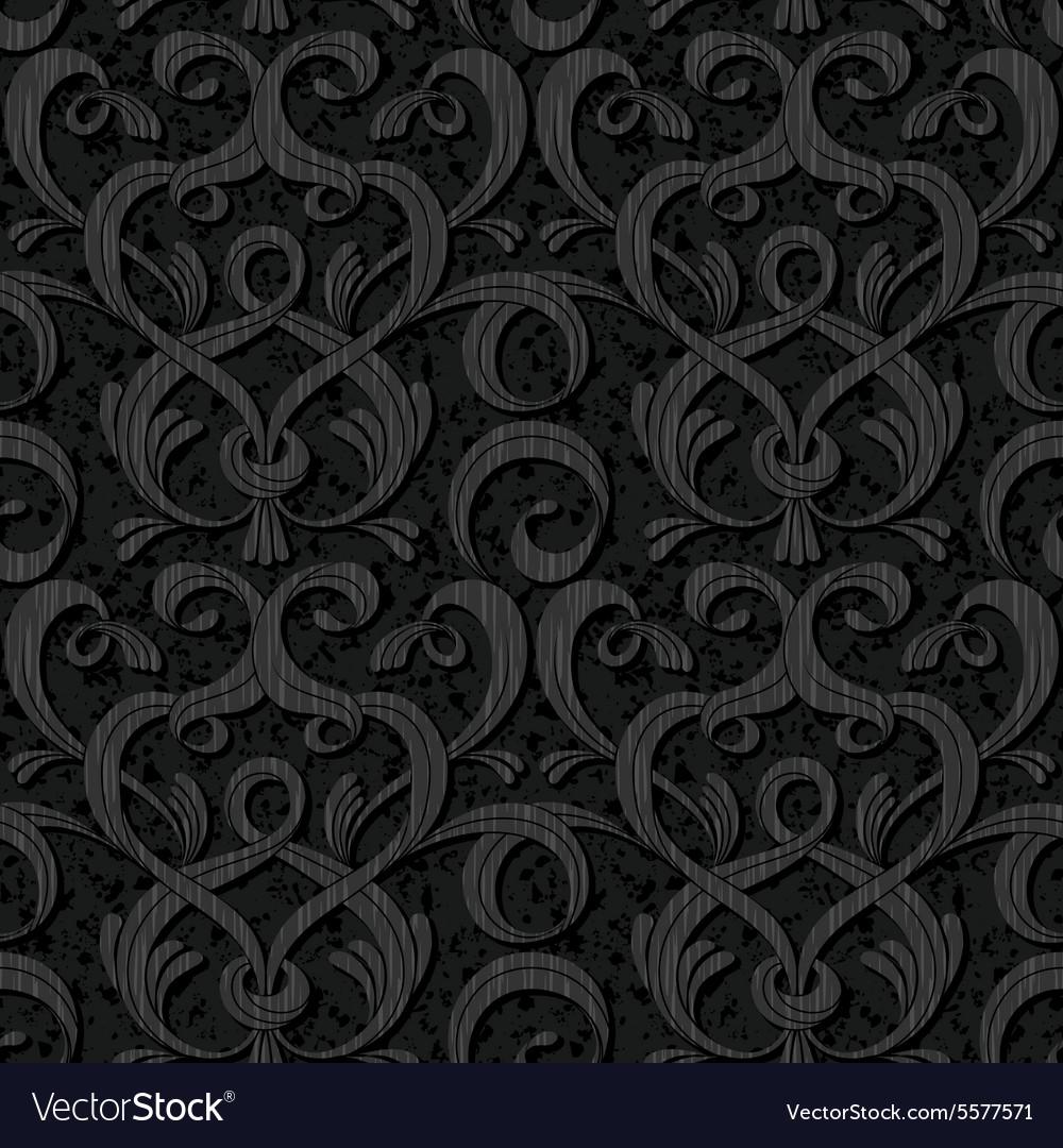 Ribbon black isolated seamless background