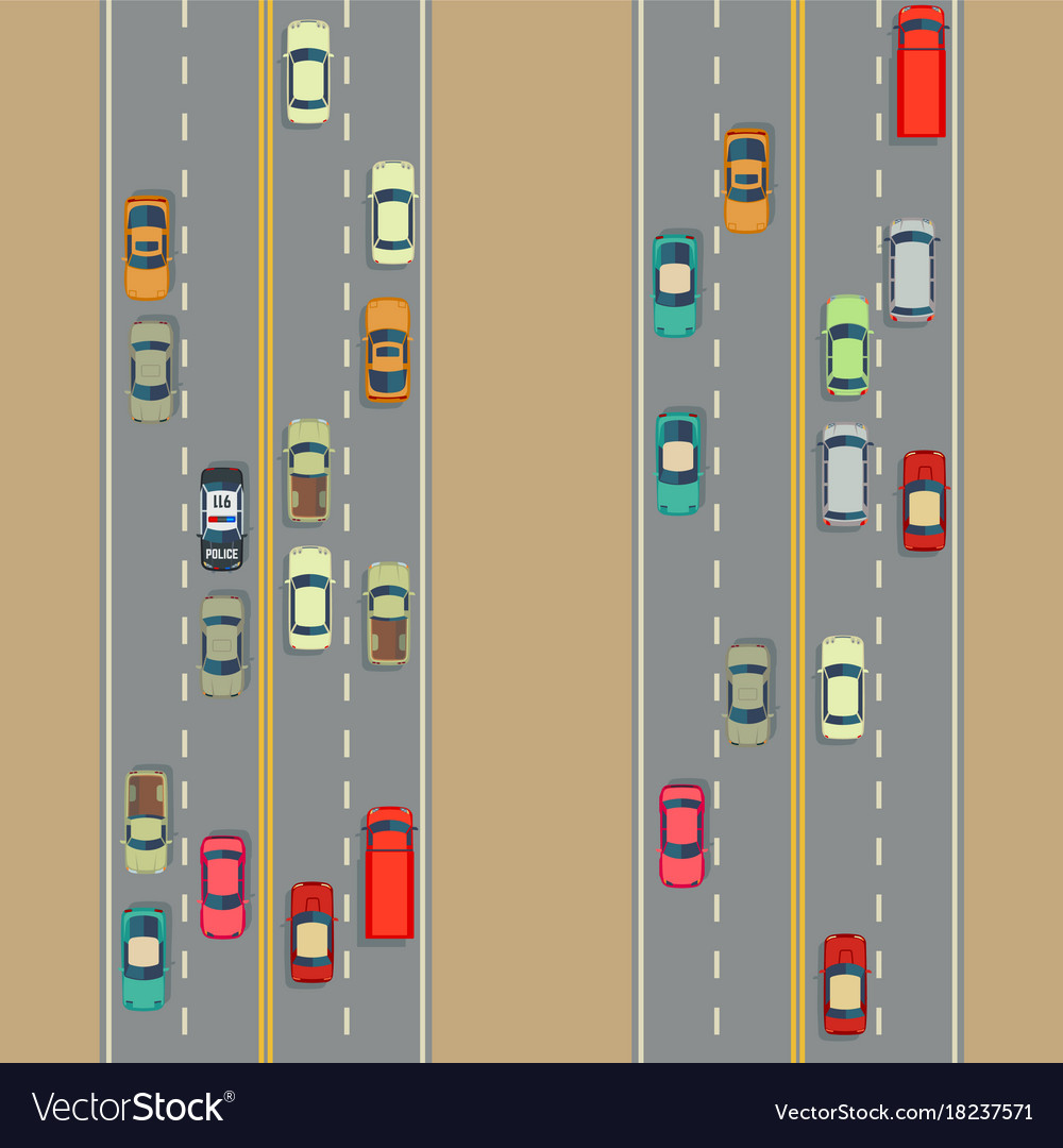 Urban cars background traffic and roads