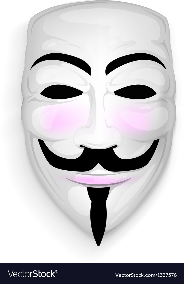 Anonymous mask vector image