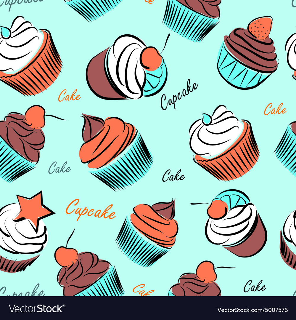 Cupcake seanless