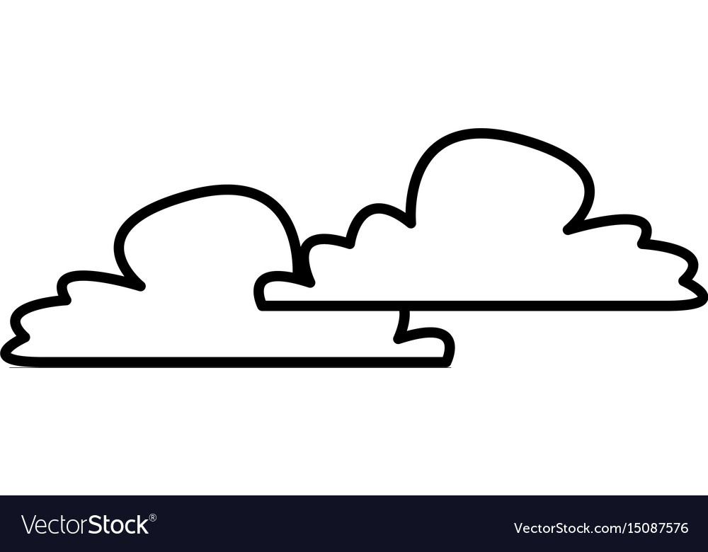 Fluffy cloud weather heaven sky cottony icon