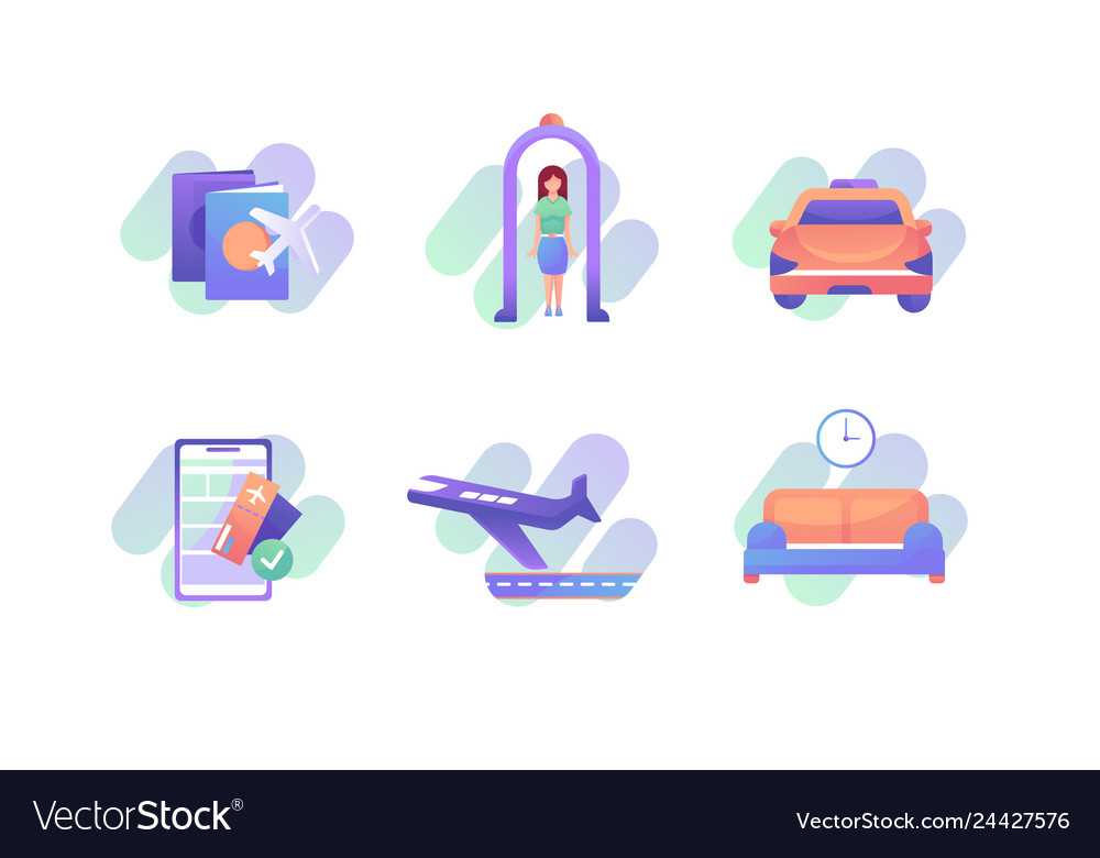 In airport icons