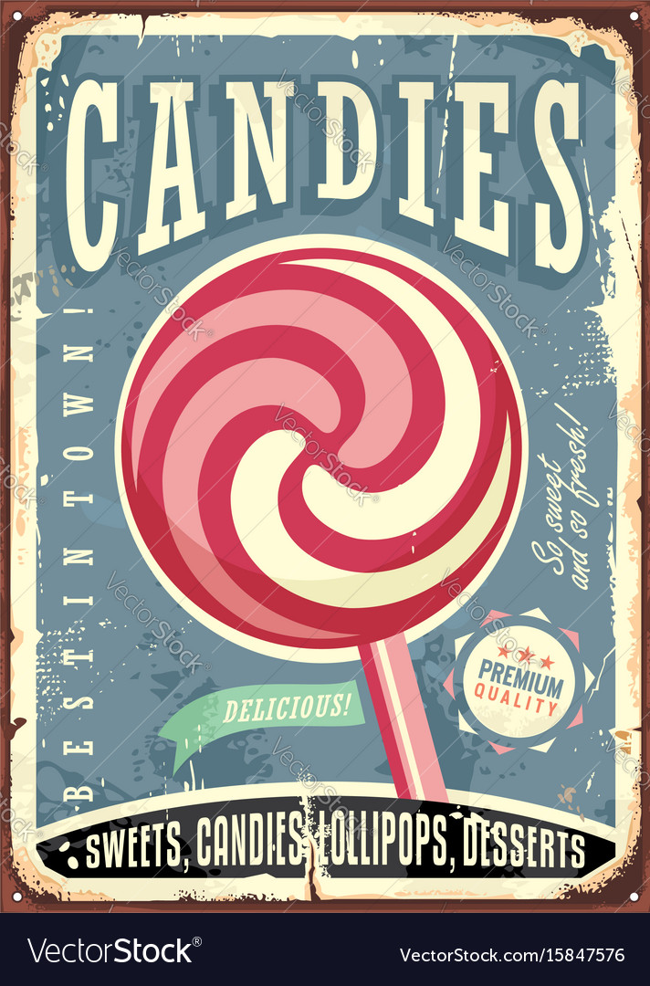 Lollipop retro sign design