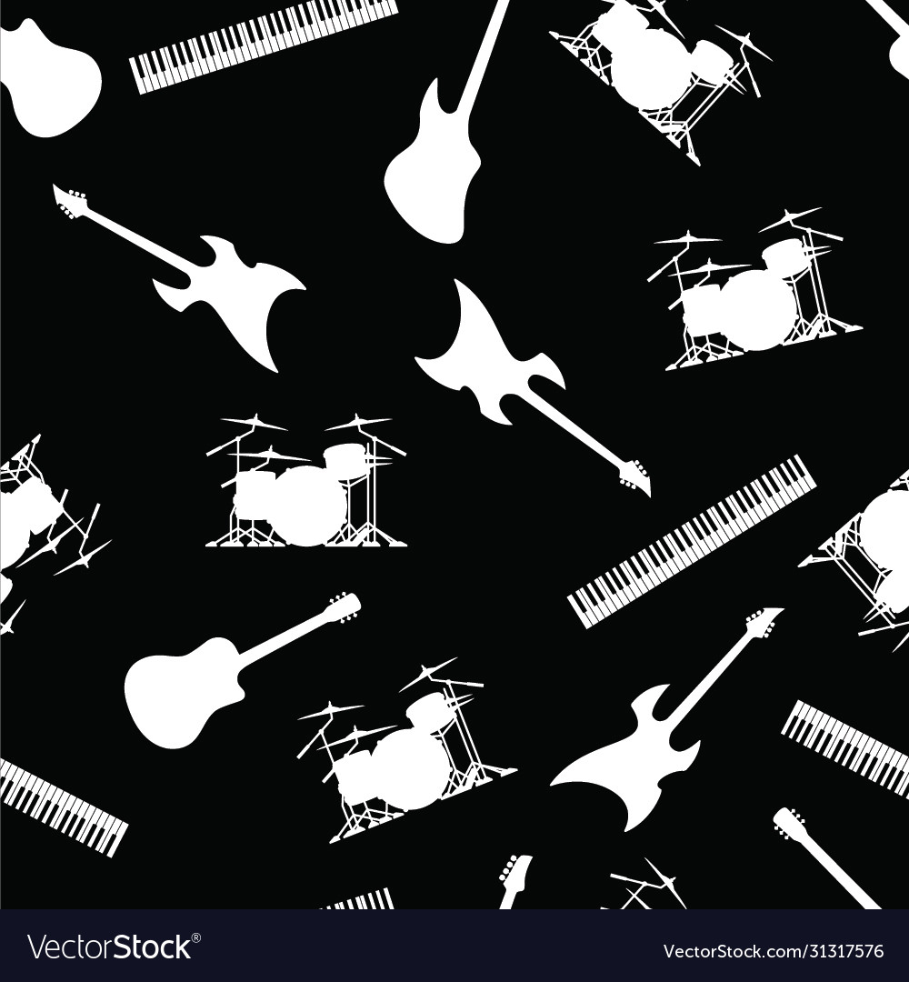 Musical instruments seamless repeating pattern