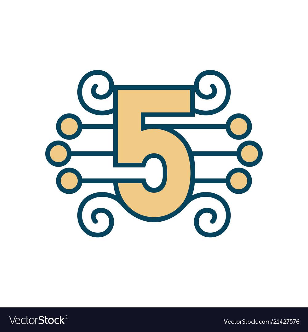 Number 5 sign