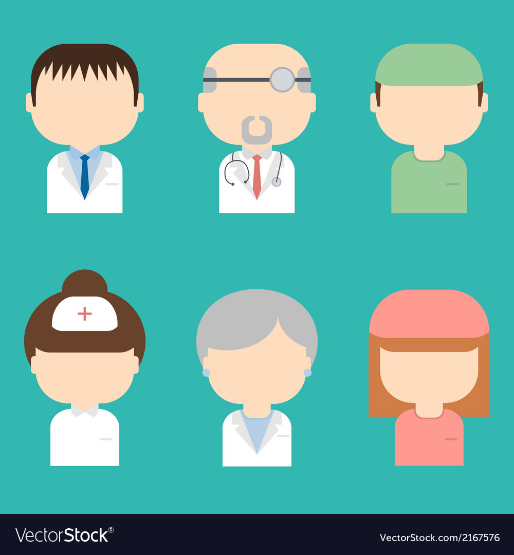 Set of doctors icons vector image