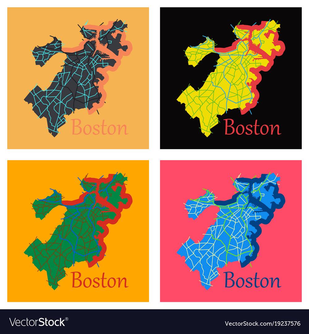 on city map of boston