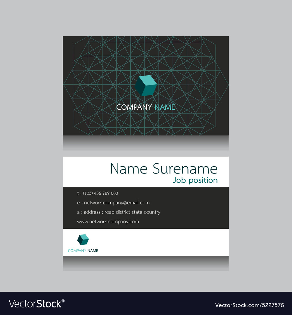 Technology business name card royalty free vector image technology business name card vector image reheart Gallery