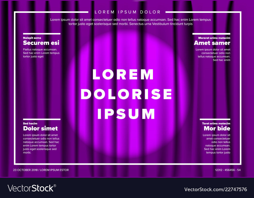 theatre stage poster template royalty free vector image