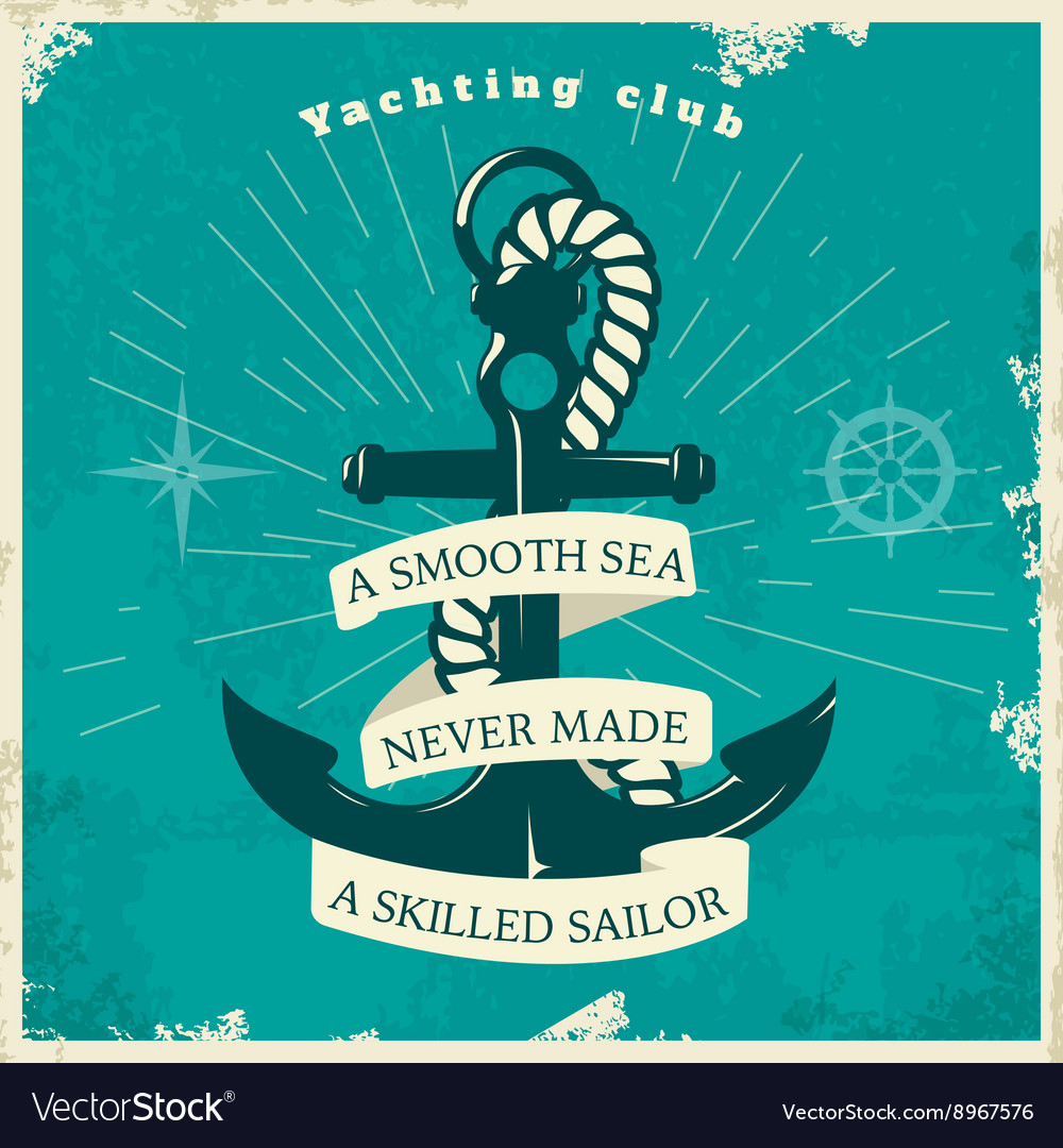 Yachting Club Vintage Style Poster