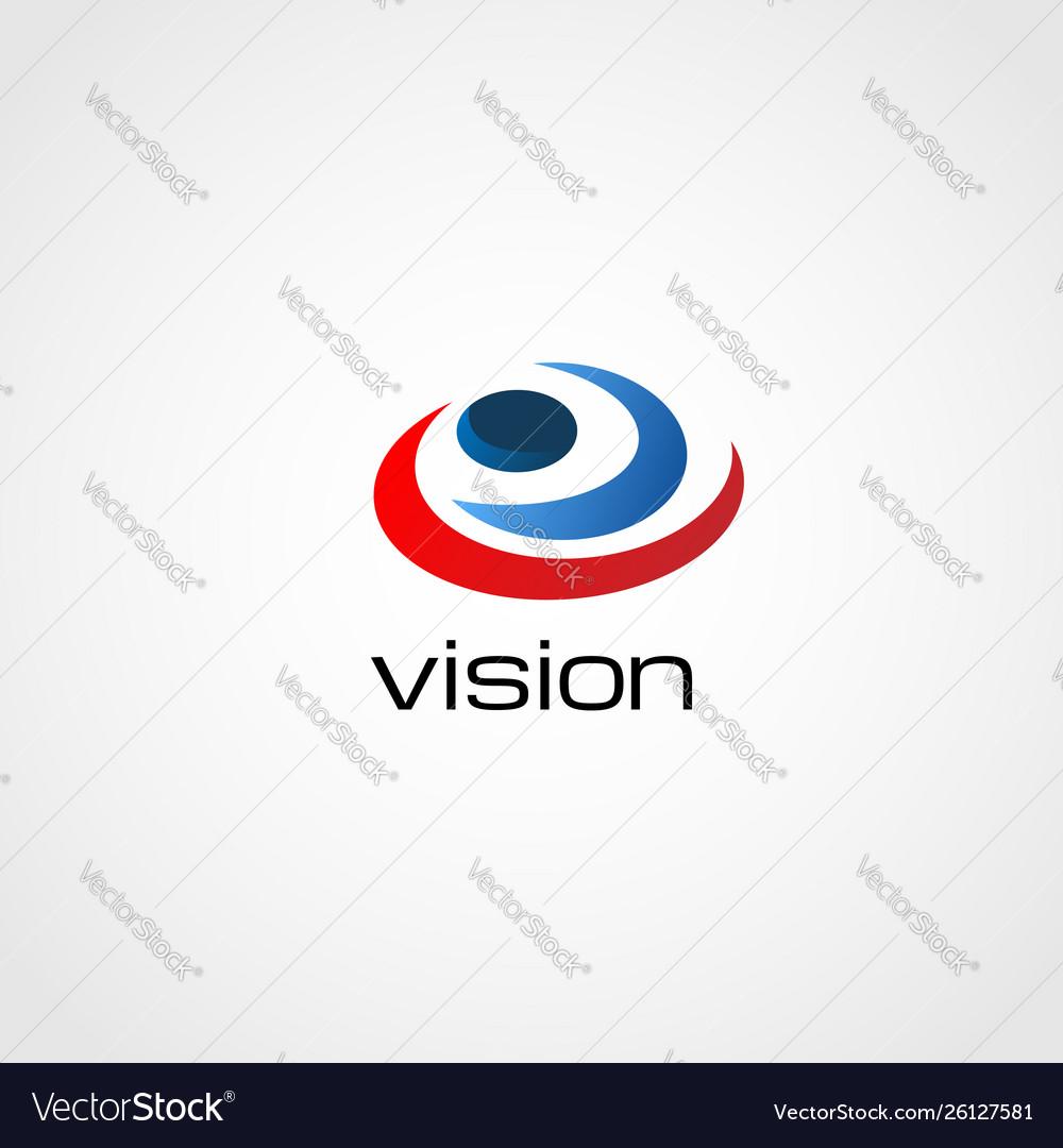 Abstract colorful spiral eye vision logo sign