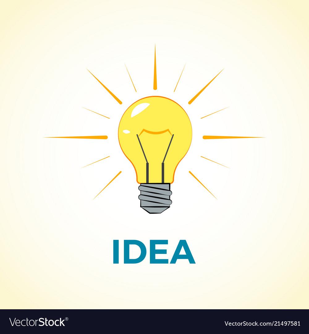 Business concept creative idea with light lamp