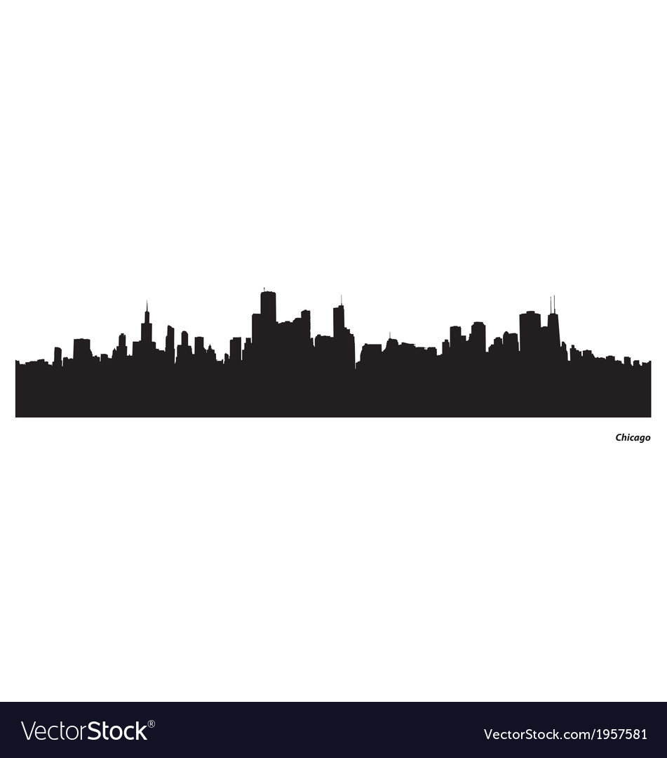 chicago skyline royalty free vector image vectorstock rh vectorstock com chicago city skyline vector chicago skyline vector art free