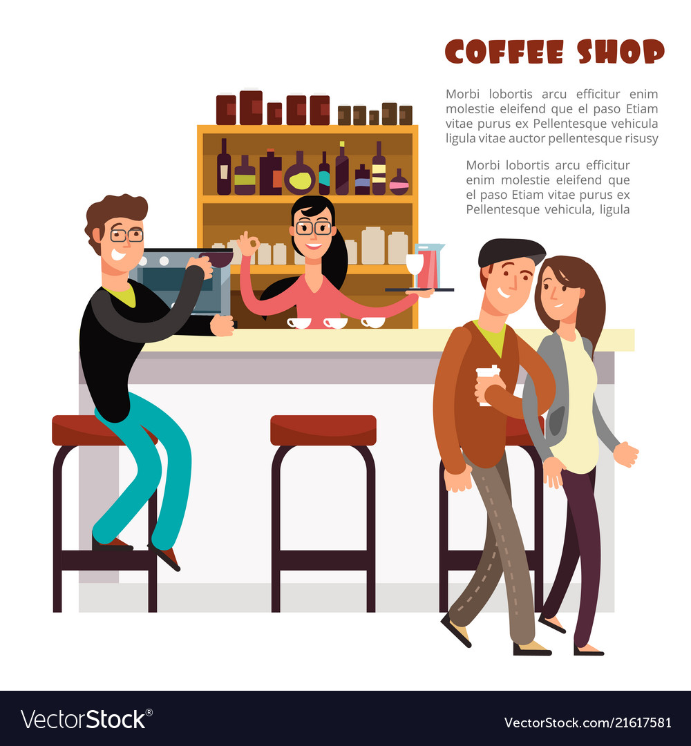Coffee shop concept with take away coffee