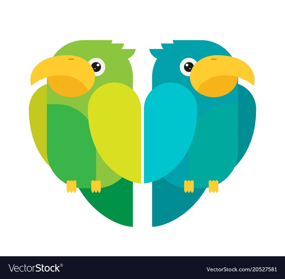 Flat parrots set