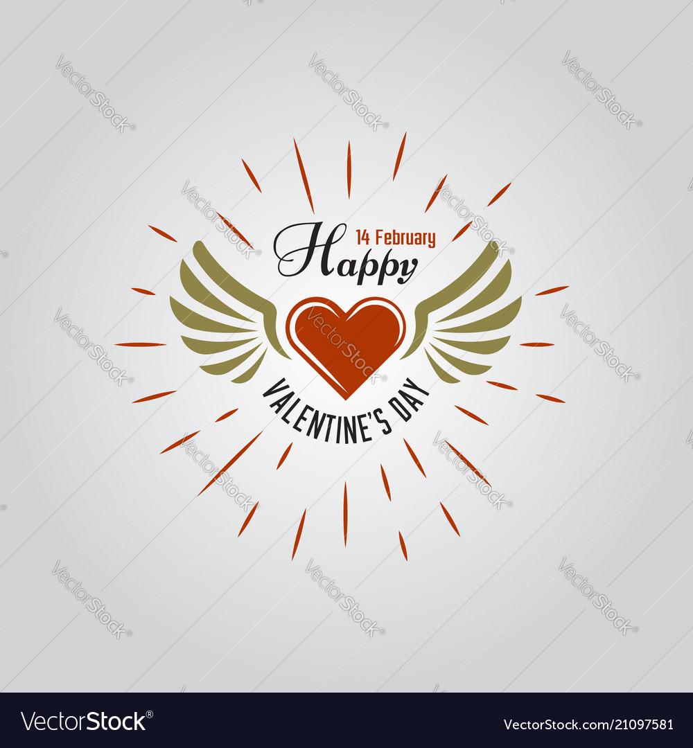 Happy valentines day typographic labels