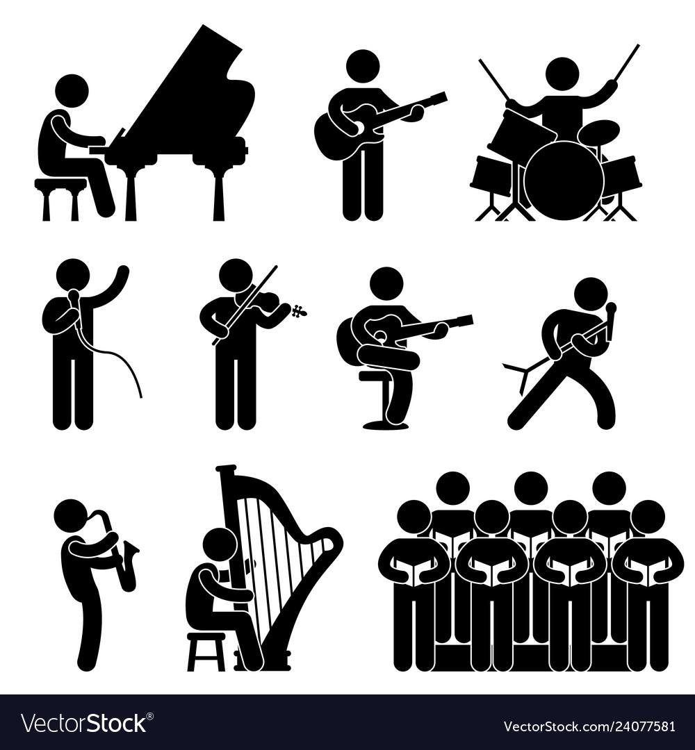 Musician pianist guitarist choir drummer singer