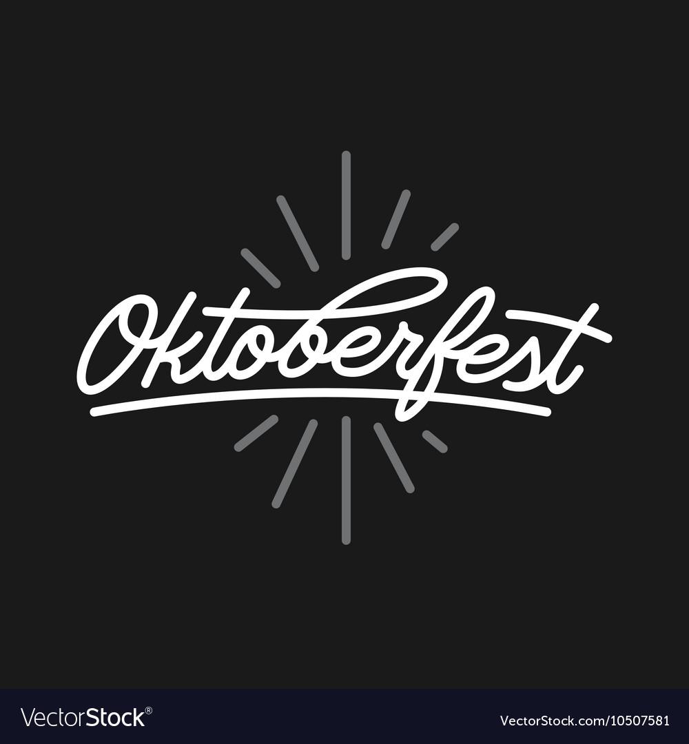 Oktoberfest beer festival typography emblem