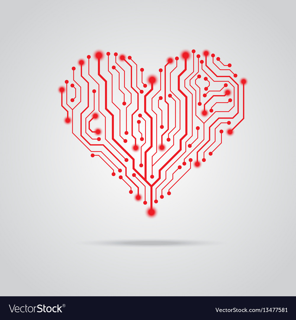 Pcb red heart design