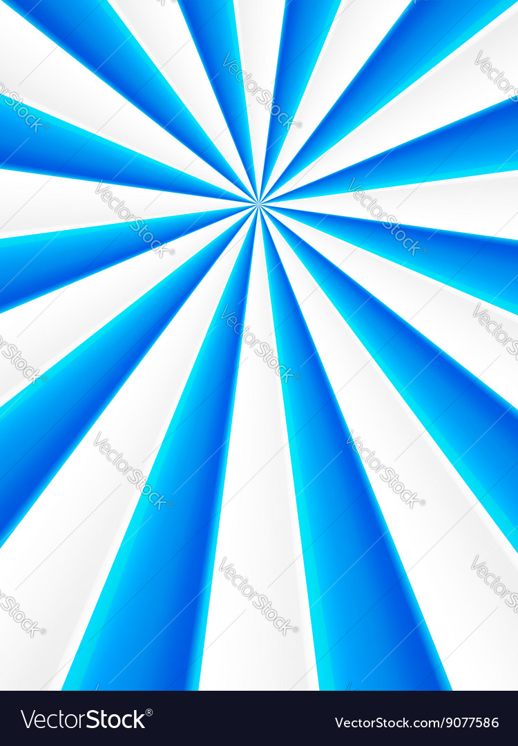 Blue and white abstract rays circle