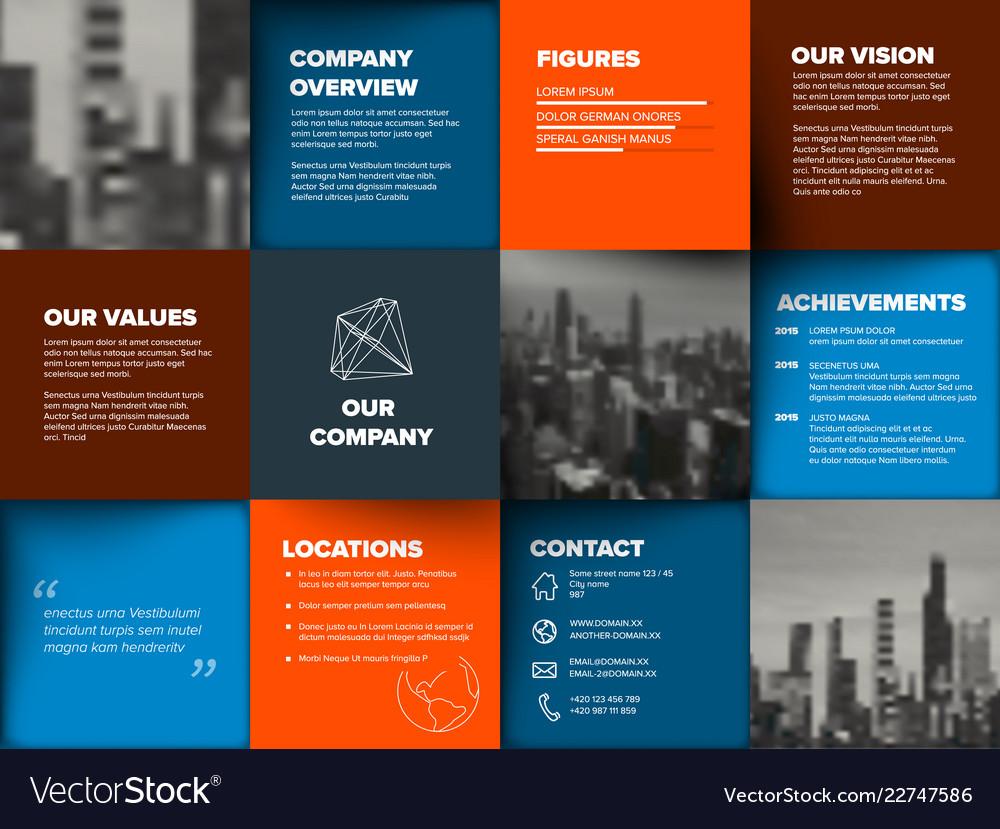 Company Profile Template Vector Image