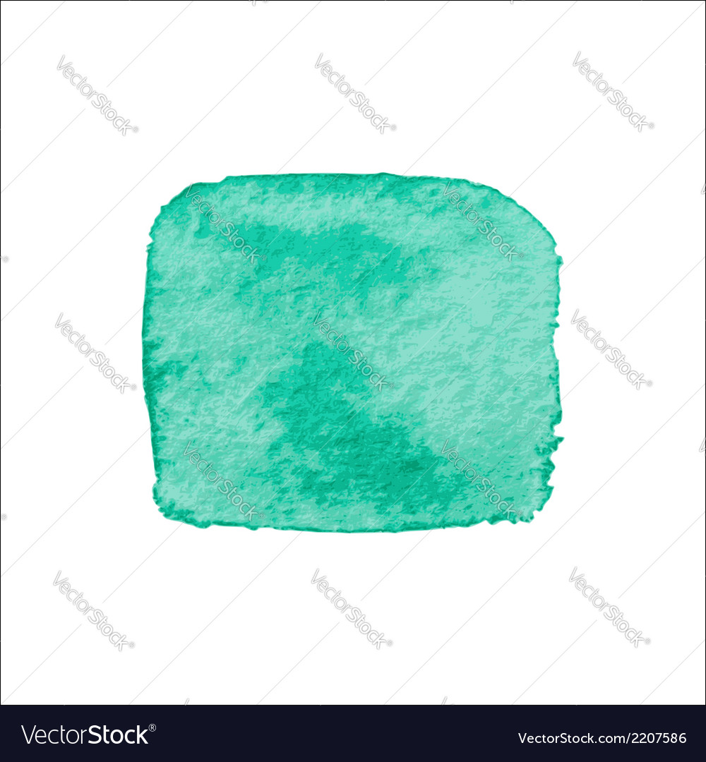 Green Square Watercolor Banner vector image