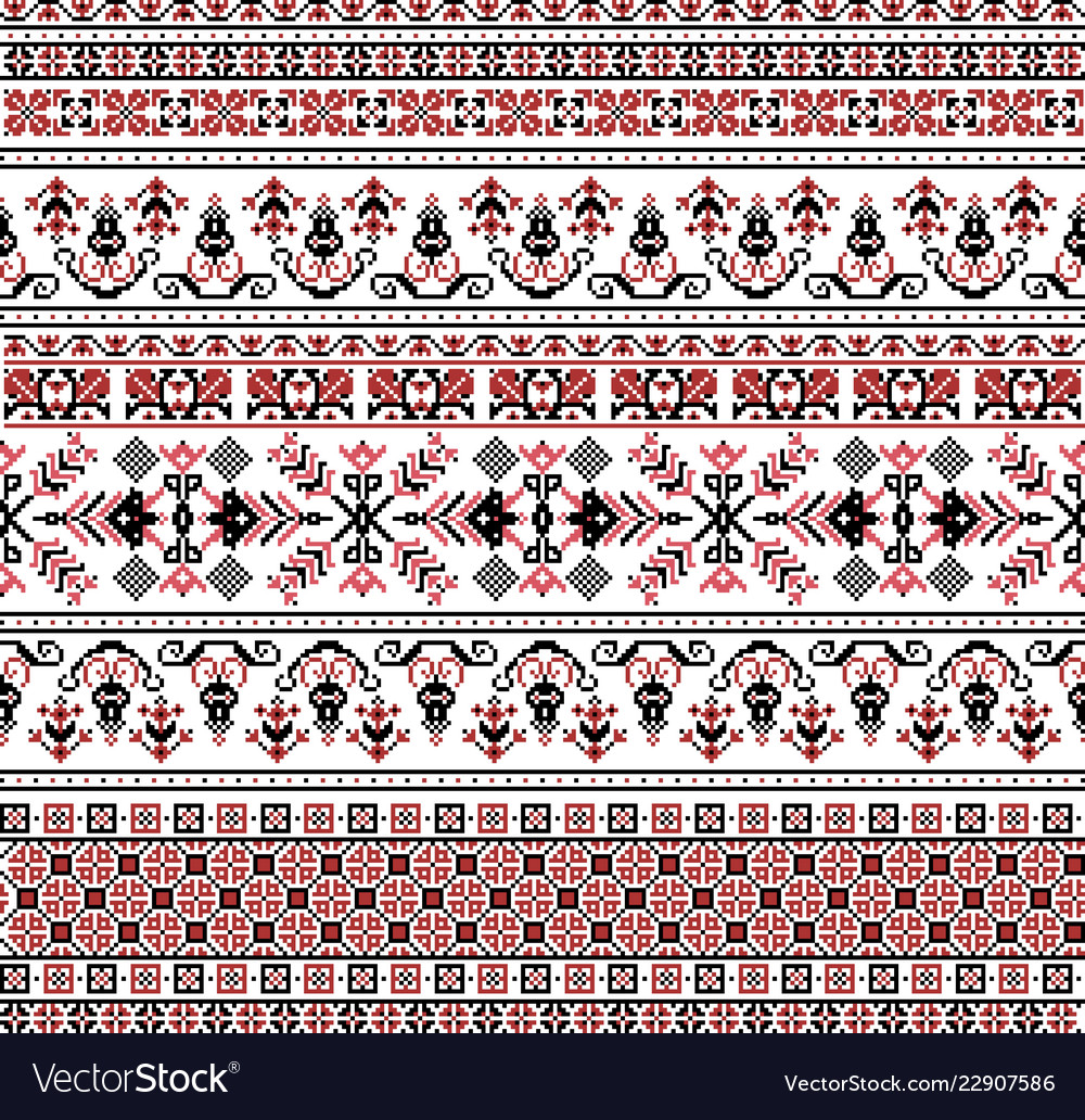 Hungarian pixel pattern for cross-stitch