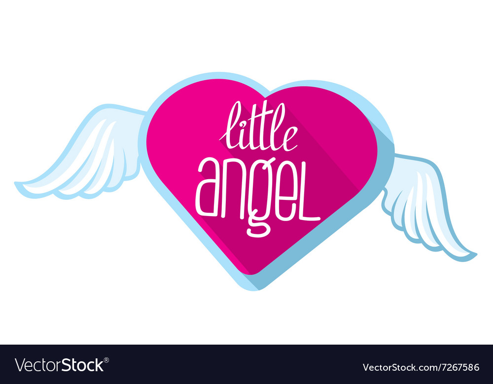 Little angel lettering for girl t-shirt