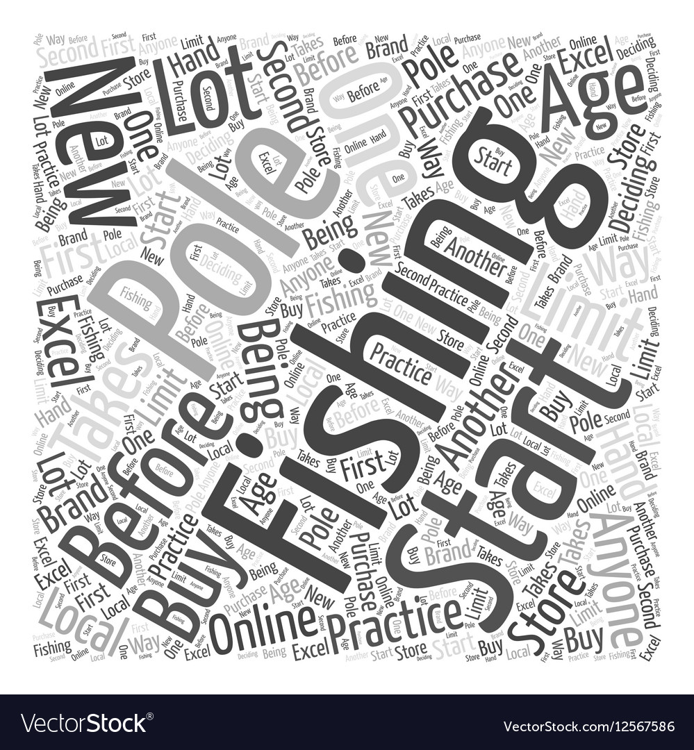 SF fishing pole Word Cloud Concept vector image