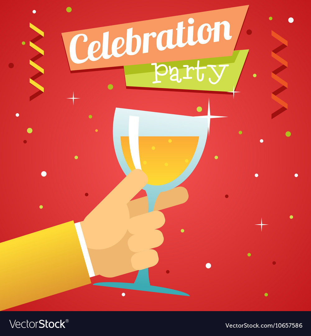 Toast Pledge Celebration Success Prosperity Symbol vector image