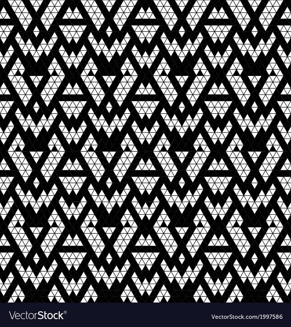 Tribal monochrome lace