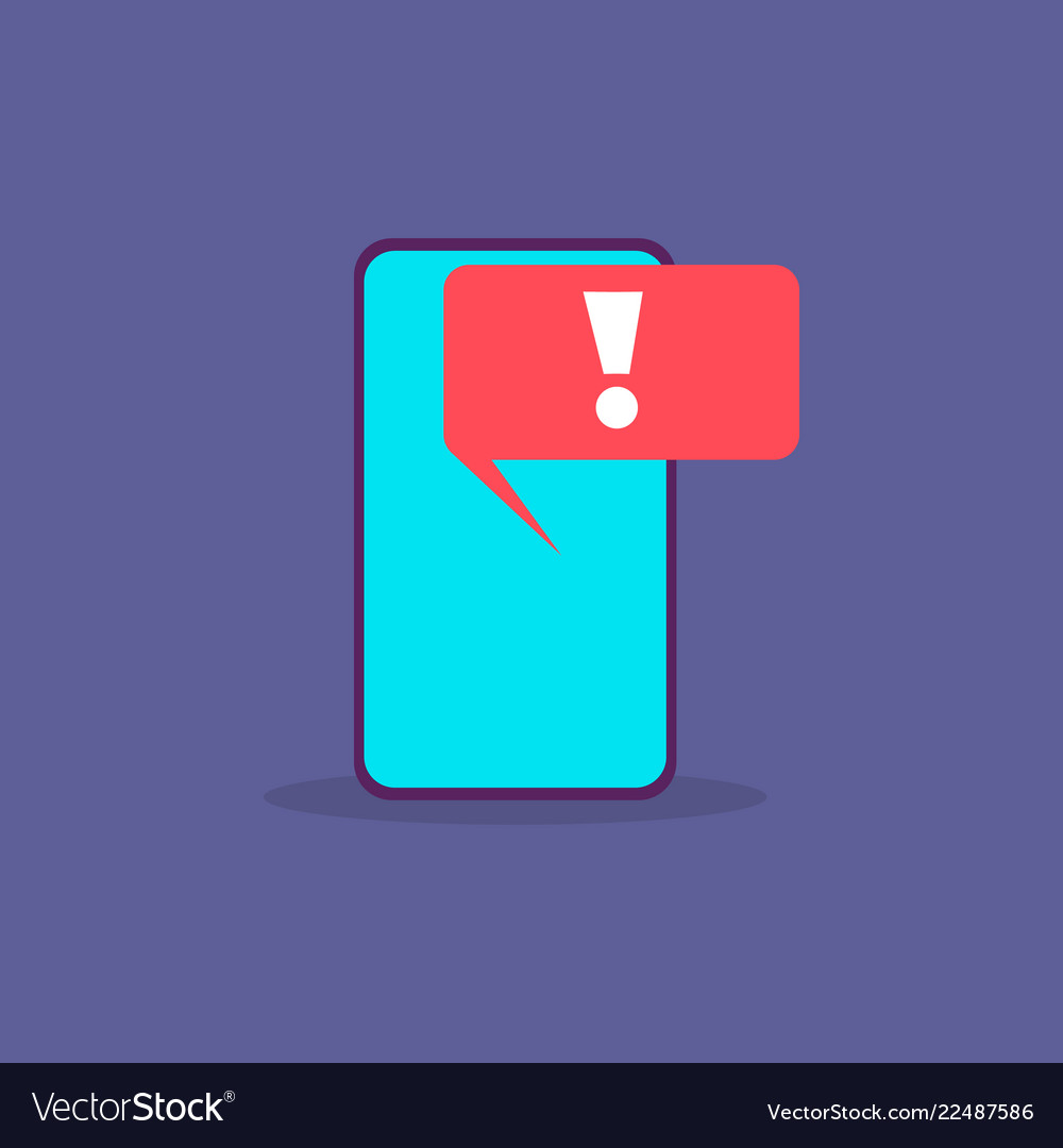 Virus alert malware notification on smartphone