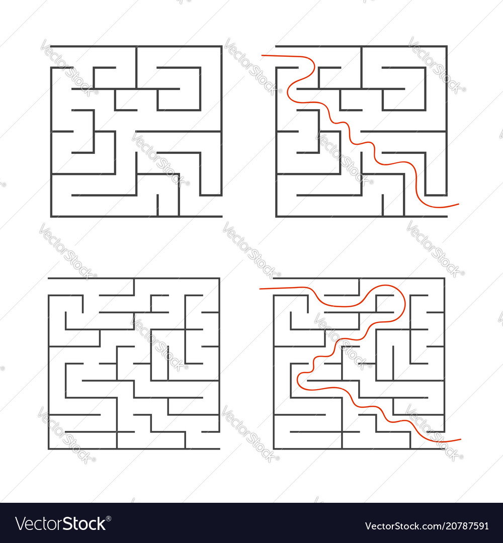 A set of square simple labyrinths an interesting