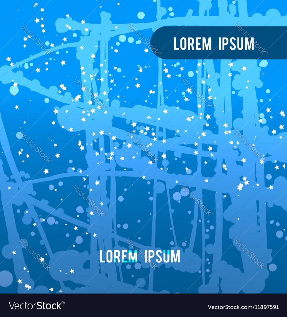 Blue backdrop splash paint texture vector image