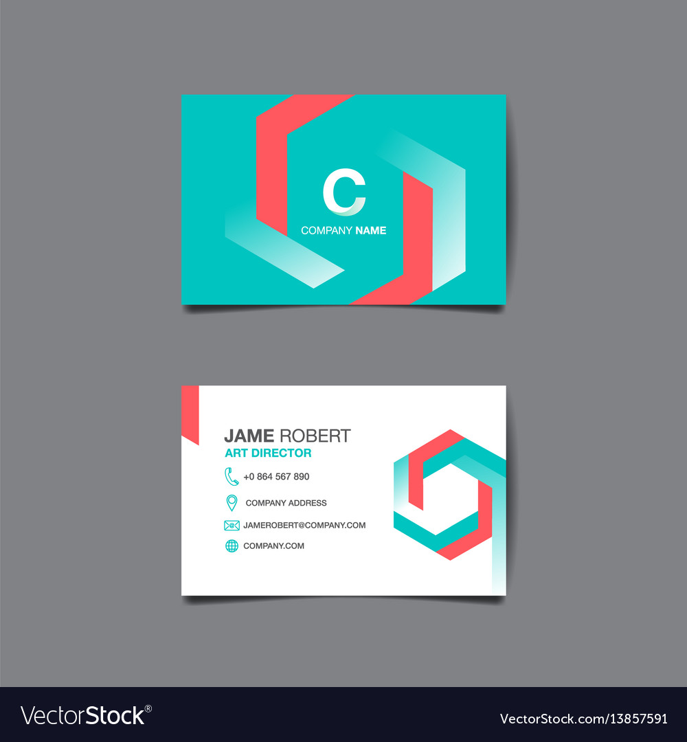 Business name card background