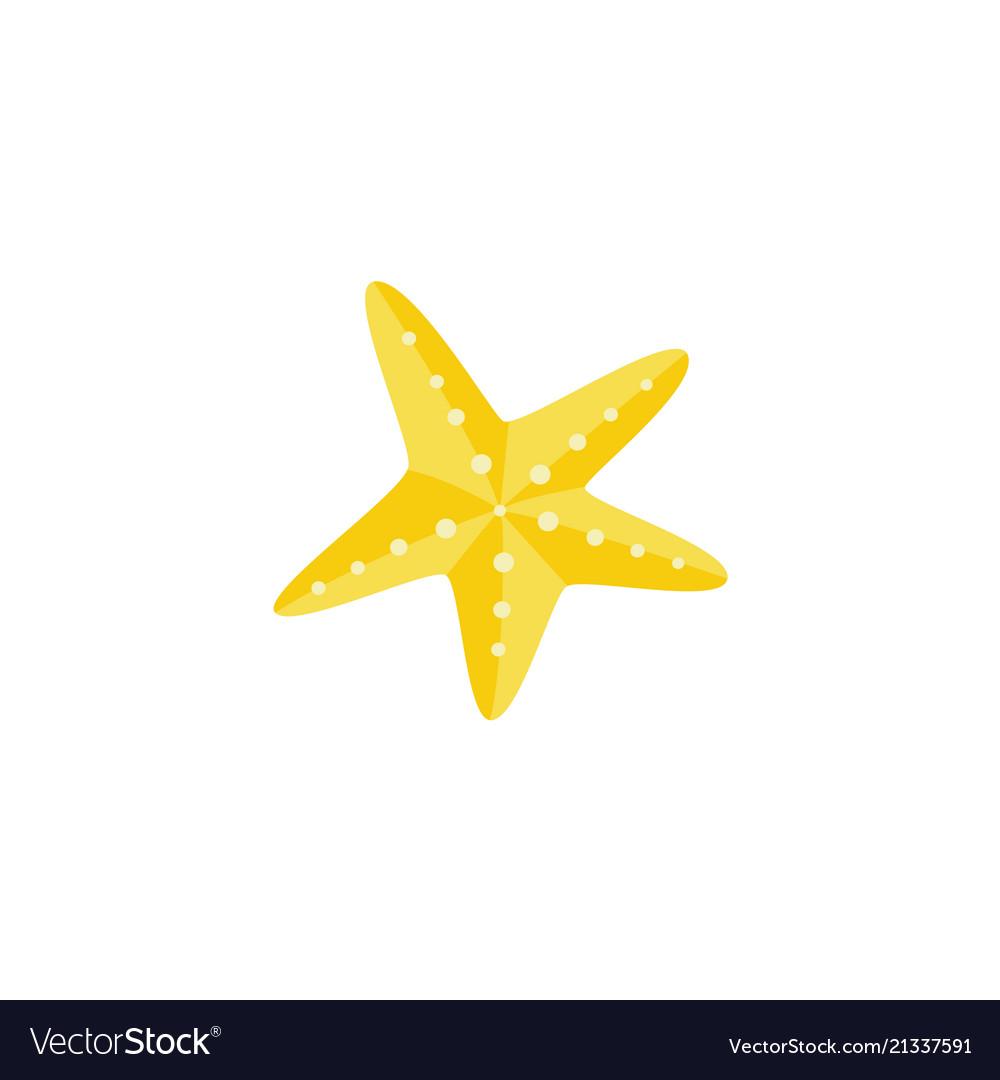 Cartoon yellow starfish icon