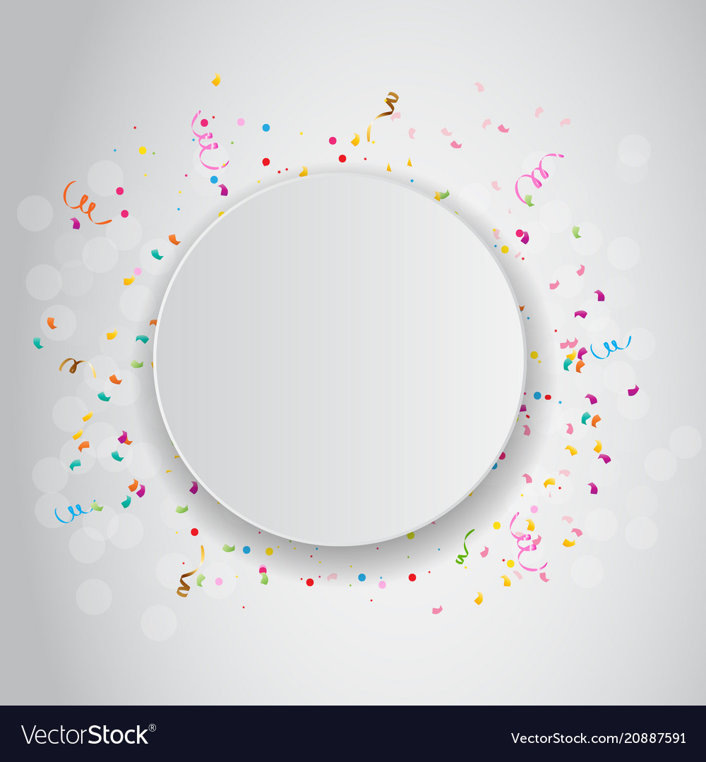 Color celebration confetti background