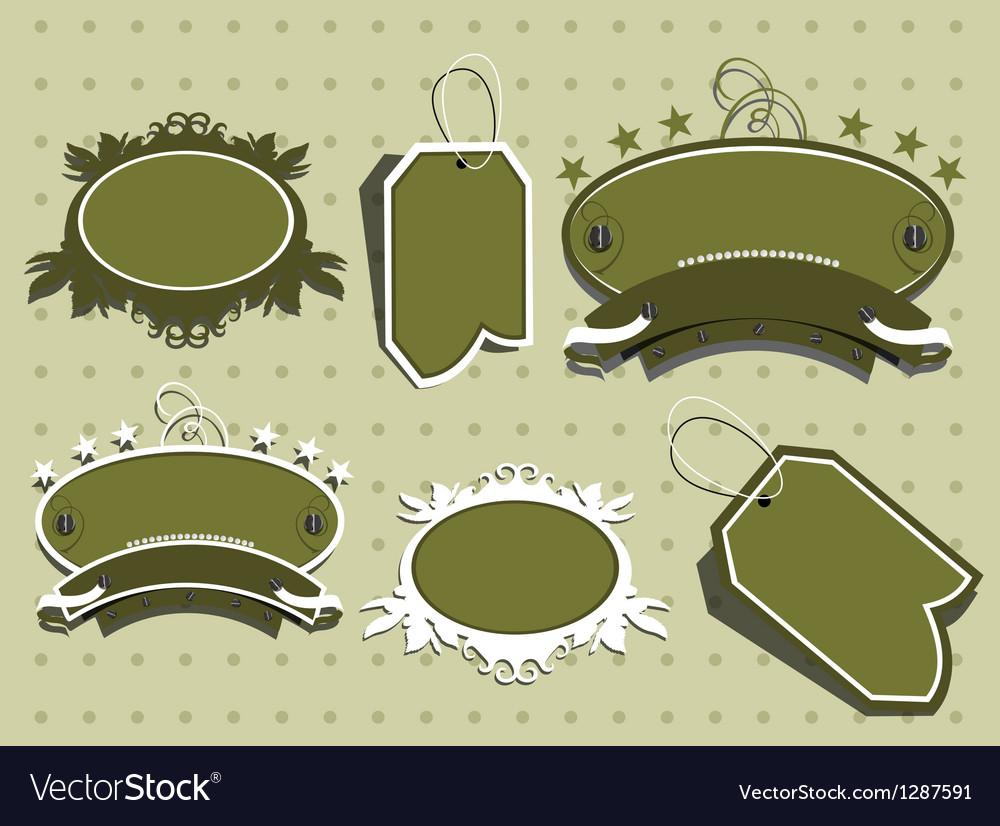 Cute scrapbook elements vector image