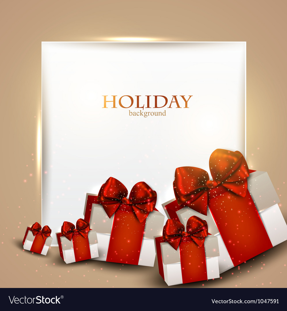 Elegant Christmas gifts background vector image on VectorStock